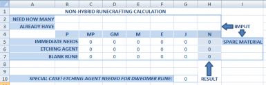 Runecrafting Calculation