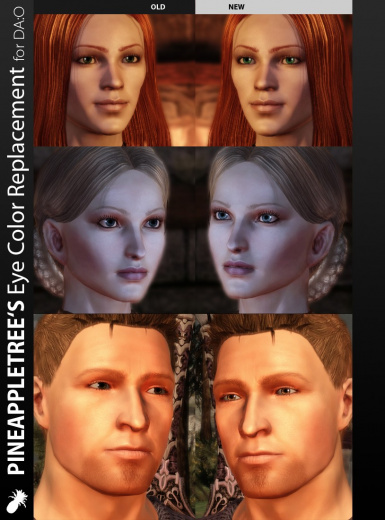 Ingame preview of the replacement eye colors