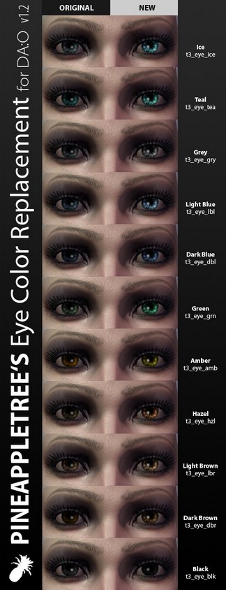 Preview of the replacement eye colors