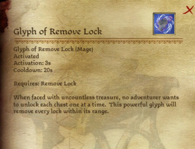 Glyph of Remove Lock