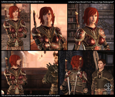 Leliana Wearing Battlemaiden Armor