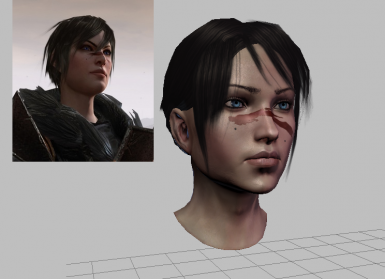 Female Hawke Textures Actually Face Design not available