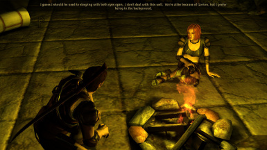 Speaking with Imoen in camp