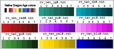 More CC tattoo colors