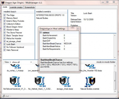 DragonAge ini mod config