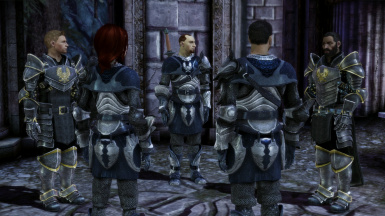 Texture pack at Joining with re-textured Grey Warden recruit armour - Allaria