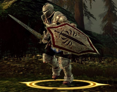 Alistair with DA2 Templar shield - prux
