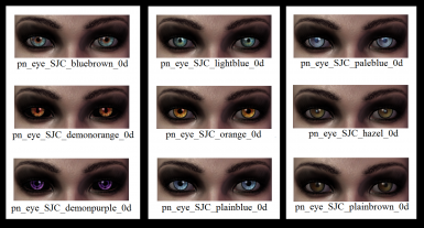 18 eye colours for DAO - 9 additional animal-like eyes included