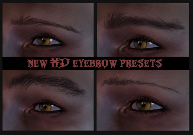 HD Eyebrow and Stubble presets