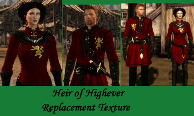Heir of Highever Red replacement