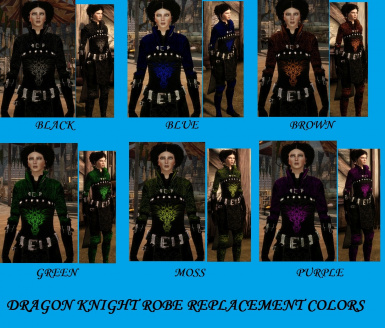 Dragon Knight Robe replacements