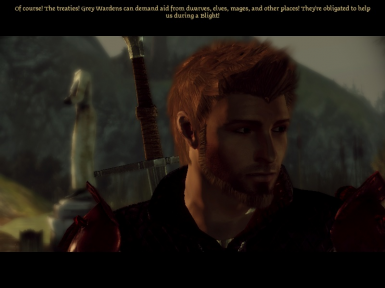 Alistair with Oghren's hair
