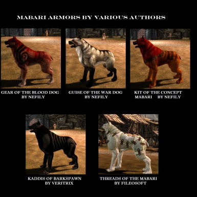 MABARI ARMOR BY VARIOUS AUTHORS