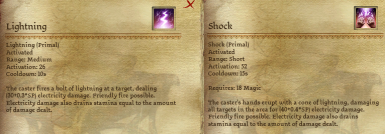 Lightning and Shock Magic Requirement Fix