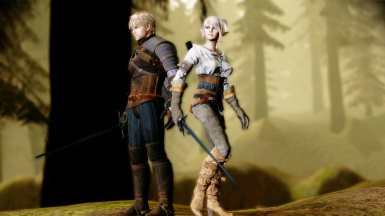 Kaer Morhen gear and Ciri outfit