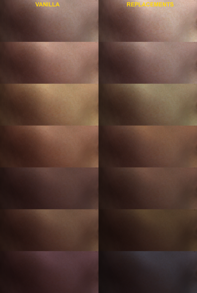 Vanilla Skin Tones - Eye Texture And Eye Colours Replacements