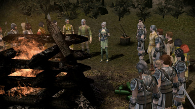 Clan Gathered Listening to Keeper