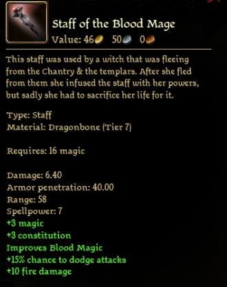 Staff of the Blood Mage