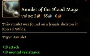 Amulet of the Blood Mage