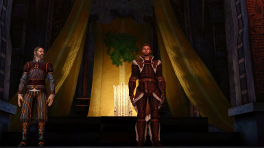 Epilogue Alistair wears his Inquisition King Armour