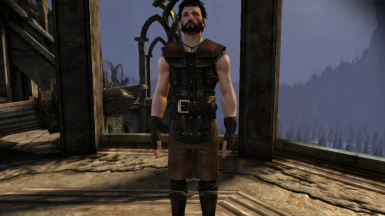 Male Hawke Mage, with blood smear