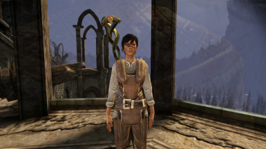 Female Hawke with tanned skin tone 1