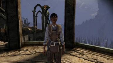 Female Hawke with swarthy skin tone 1