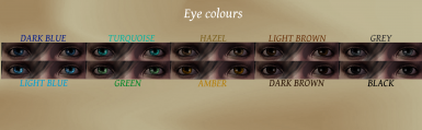 Custom Eyes Colours