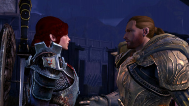 King Alistair wears Cailan's Armor in DAA