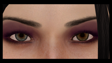 Actual close-up in Blender (feat. ugly blurry eyebrows and equally ugly lashes)