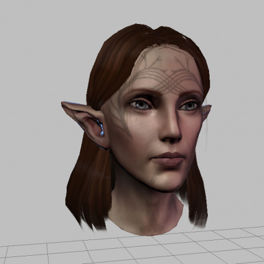 toolset - tucked hair and Bioware eyes