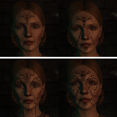 Falon'Din - Vanilla Left, Mod Right