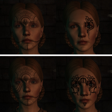 Sylaise - Vanilla Left, Mod Right