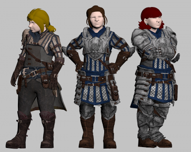 Please don't mind the weird and in hindsight, kinda of creepy rendering. There just aren't many Dwarf females in-game to pose with.