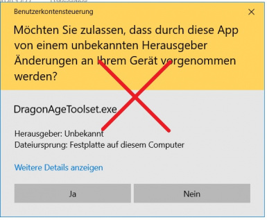 Run and open files with DA Toolset without UAC window