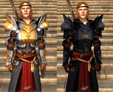 Aveline wearing armour of Meredith
