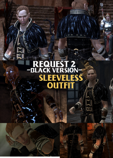 Request 2 - Sleeveless Outfit -Black Version-