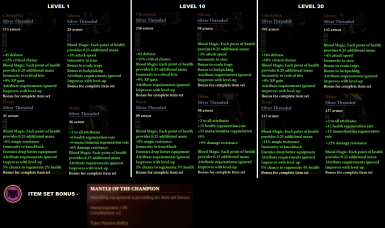 New armor Stats