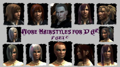 MORE HAIRSTYLES for DA2 PART 2