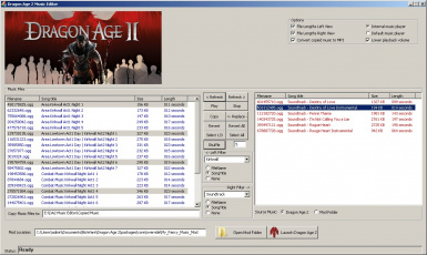 Dragon Age 2 Music Editor