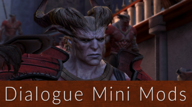 sapphim's Dialogue Mini Mods