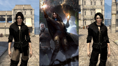 Yennefer Concept Art Outfit