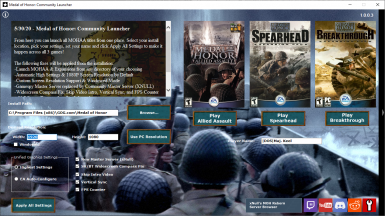 Medal of Honor Community Launcher
