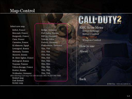 RMC-Rcon-Mod (CoD2 v1 2 w/ Custom Maps) at Call of Duty 2 Nexus