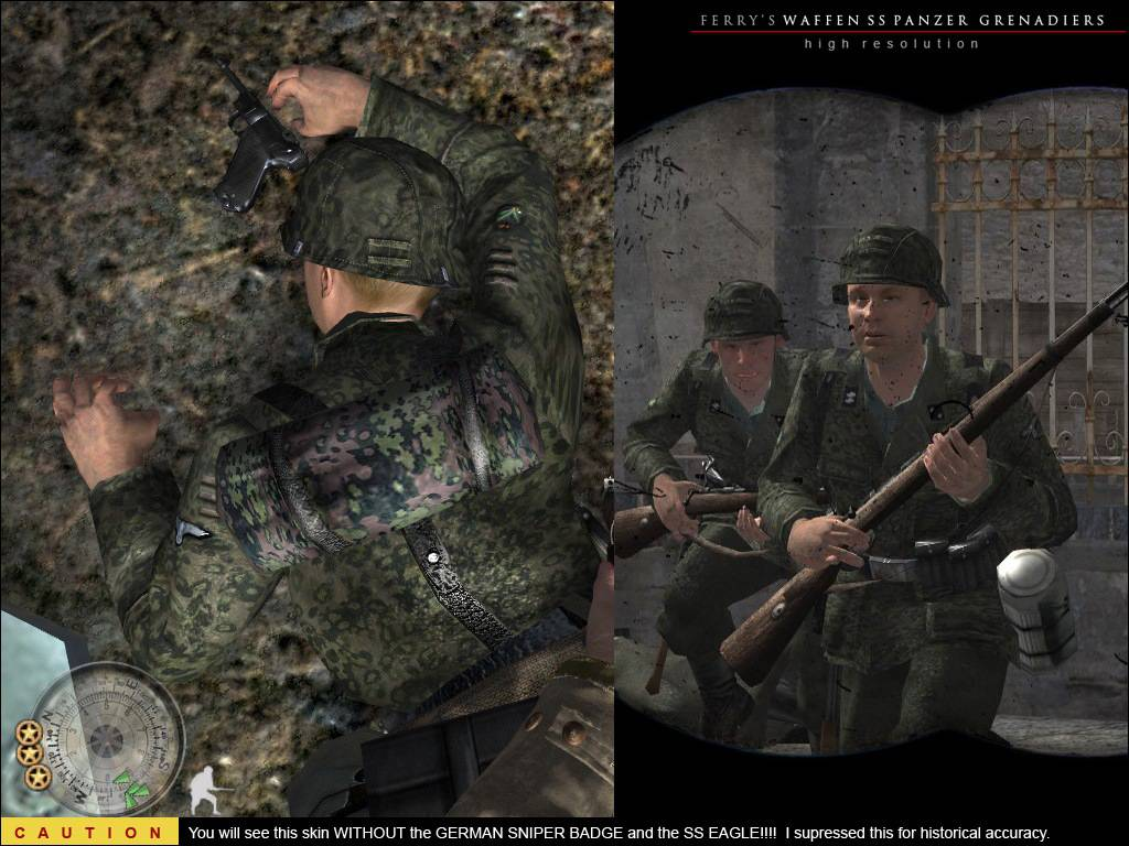 Ferry's High-Res SS Panzer Grenadier Skins at Call of Duty 2 Nexus