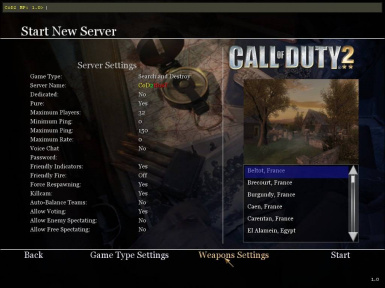 Shelby's Weapons Settings (1.0)