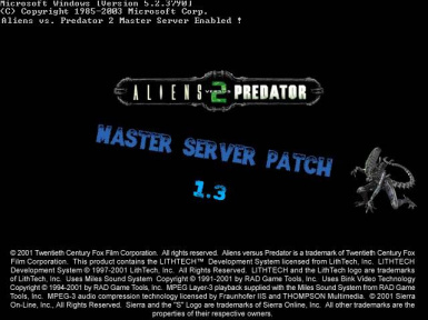 Aliens vs. Predator 2 Master Server Patch (1.3)
