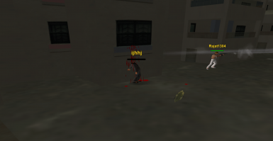 Vice Squad members in a shootout on the streets of Vice City