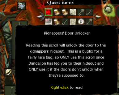 Kidnappers' Door Bugfix
