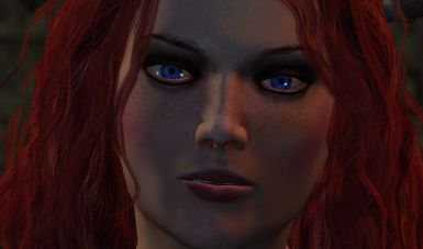 Triss blue eyes